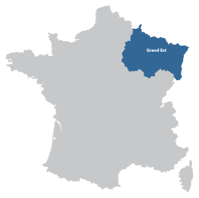 Map of Lorraine in France