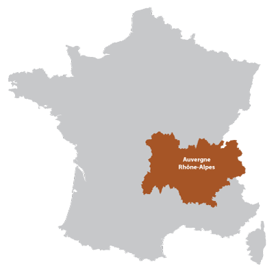 Map of Auvergne in France