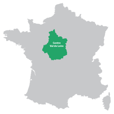 Map of Centre in France