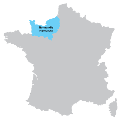 Map of Upper-Normandy in France