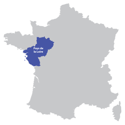 Map of Pays-de-la-Loire in France