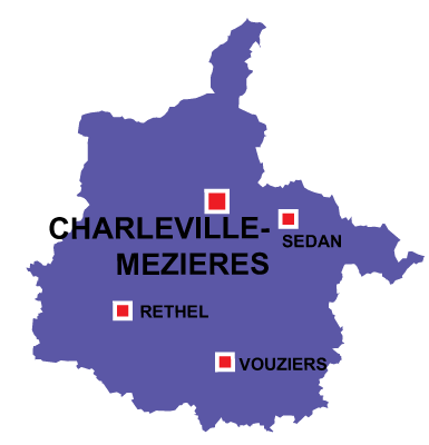 Department map of Ardennes