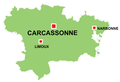 Map Of France Carcassonne.Information About The City Of Carcassonne