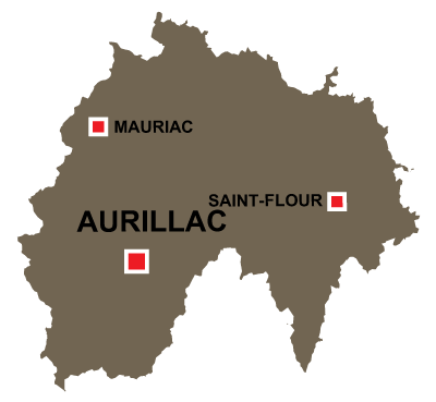 Aurillac in Cantal