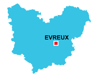 Department map of Eure