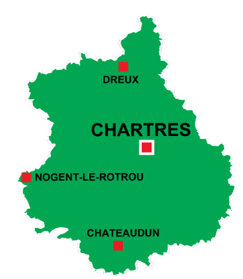 Department map of Eure et Loir