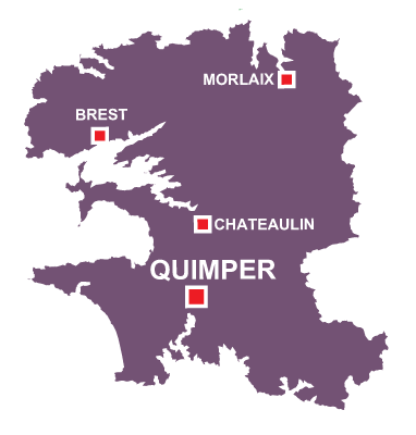 Department map of Finistère