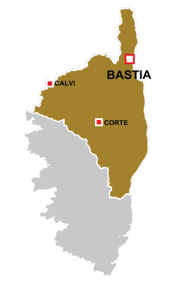 Department map of Haute Corse