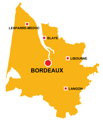 Department map of Gironde