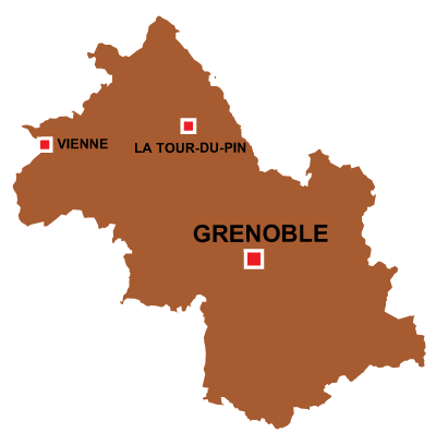 Department map of Isère