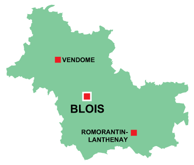 Department map of Loir et Cher