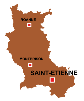 Department map of Loire
