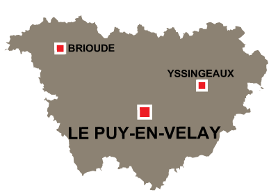 Department map of Haute Loire