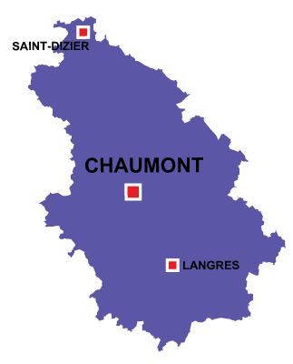 Department map of Haute Marne