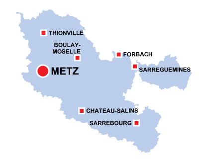 Department map of Meurthe et Moselle