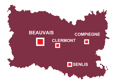 Department map of Oise