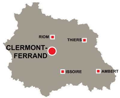 Department map of Puy de Dôme