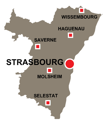 Department map of Haut Rhin