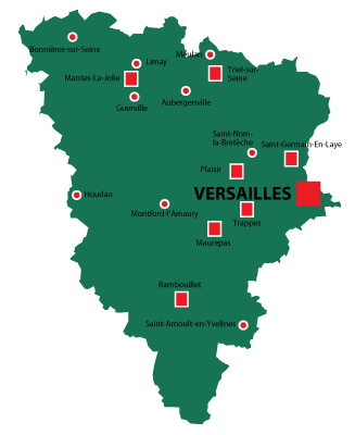 Department map of Yvelines