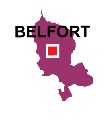 Department map of Territoire de Belfort